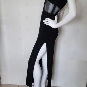 JESSICA MCCLINTOCK black vintage strapless gown